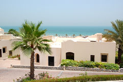 Holliday villa at the luxury hotel and palm. Ras Al Khaimah, UAE Royalty Free Stock Photo