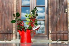 Hollies für Weihnachten lizenzfreies stockbild
