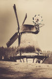 Hollingstedter windmill - sepia Stock Image