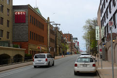Hollis Street Halifax, Nova Scotia, Kanada Royaltyfri Bild