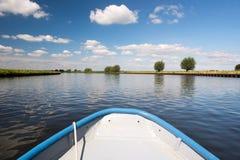 Holländsk flod Eemen Arkivbild