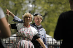 Holländska dansare i Holland Michigan Royaltyfri Foto