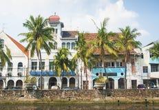 Holländska koloniala byggnader i jakarta indonesia Royaltyfri Fotografi