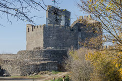 Holloko Castle in Hungary and autumn park around Stock Image