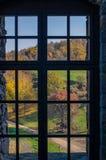 Hollokokasteel in Hongarije en de herfstpark rond Royalty-vrije Stock Foto's