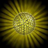 Hollow ball isolated with glow rays Stock Images