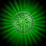 Hollow ball isolated with glow rays Royalty Free Stock Photo