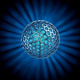 Hollow ball isolated with glow rays Stock Photos