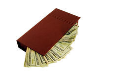 Hollow book money. Hollow book used to store money in the house Royalty Free Stock Images