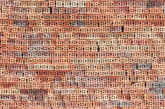 Hollow brick  on construction site Stock Photography