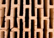 Hollow brick texture Stock Photo