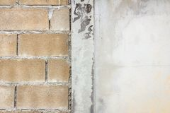 Hollow brick wall Royalty Free Stock Images