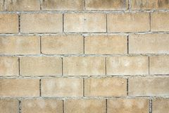 Hollow brick wall Stock Photo
