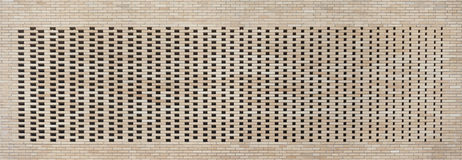 Hollow brick wall texture background Royalty Free Stock Photos