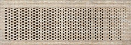 Hollow brick wall texture background Royalty Free Stock Photos