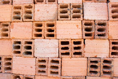 Hollow bricks Stock Photo