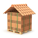 Hollow clay blocks with roof tiles Stock Photography