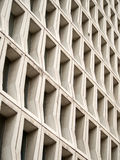 Hollow concrete block wall Stock Image