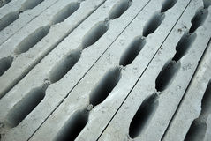 Hollow concrete blocks Stock Image