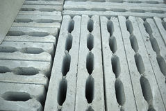 Hollow concrete blocks Royalty Free Stock Photography