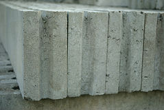 Hollow concrete blocks Royalty Free Stock Images