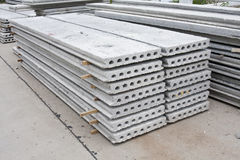 Hollow core slab. In construction site royalty free stock photo
