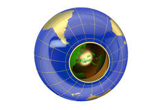Hollow Earth concept Royalty Free Stock Photography