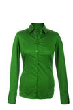 Hollow green blouse with long sleeves, isolated on white backgro Royalty Free Stock Photos