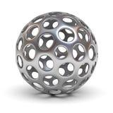 Hollow metallic chrome sphere Stock Photo
