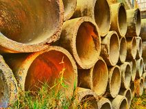 Hollow object. Used in the construction of sewage in the residencial area royalty free stock photos