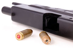 Hollow Point Bullet with Gun Royalty Free Stock Photos