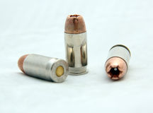 Hollow Point cal .45 ACP Bullet Royalty Free Stock Photo