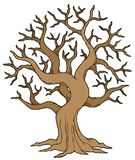 Hollow tree. On white background -  illustration Stock Images