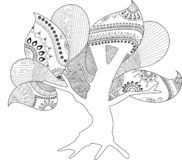 Hollow Tree Coloring Page Artwork royalty free illustration