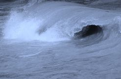 Hollow Wave Barrell curling Stock Image