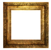 Hollow wooden frame isolated on white. Hollow wooden frame isolated on pure white background Royalty Free Stock Image