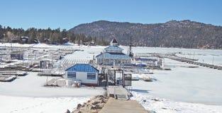 Holloways Marina In Winter Stock Image