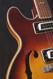 hollowbody ημι κιθάρων Στοκ φωτογραφία με δικαίωμα ελεύθερης χρήσης