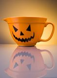Holloween bowl. With reflection of it self royalty free stock photography