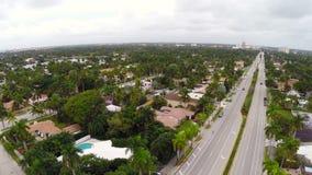 Hollwyood Florida aerial footage stock video