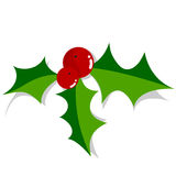 Holly. Christmas holly ornament over white background. Also in vector EPS8 format royalty free illustration