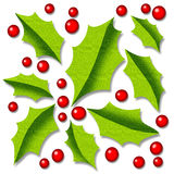 Holly background stock photo