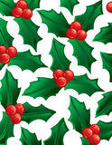 Holly background Royalty Free Stock Photos