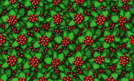 Holly Background. Digital illustration of holly filling a background Stock Image