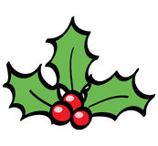 Holly berries. A basic cartoon illustration of holly berries stock illustration