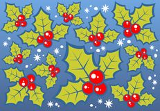Holly berries background Royalty Free Stock Images