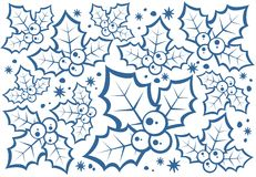 Holly berries pattern royalty free illustration