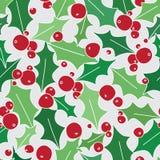Holly Berries Seamless Pattern em Grey Background ilustração royalty free