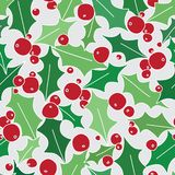 Holly Berries Seamless Pattern sur Grey Background illustration libre de droits