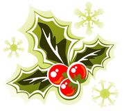 Holly berry. Stylized Holly Berry isolated on a white background stock illustration